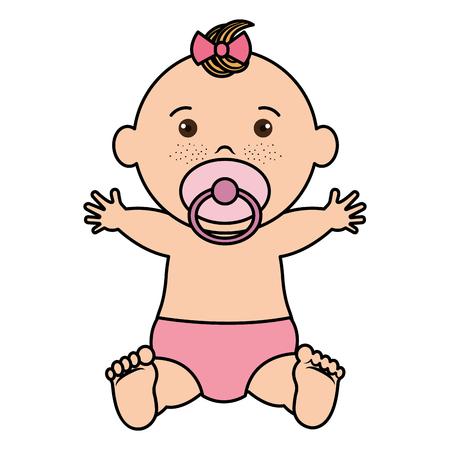 Bebé ropa feliz icono vector ilustración diseño plano Foto de archivo - 80861798