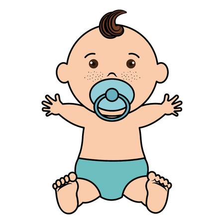 Bebé ropa feliz icono vector ilustración diseño plano Foto de archivo - 80861795