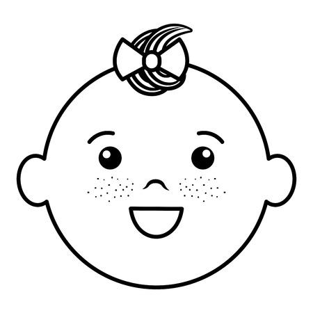 Baby face happy icon vector illustration design draw