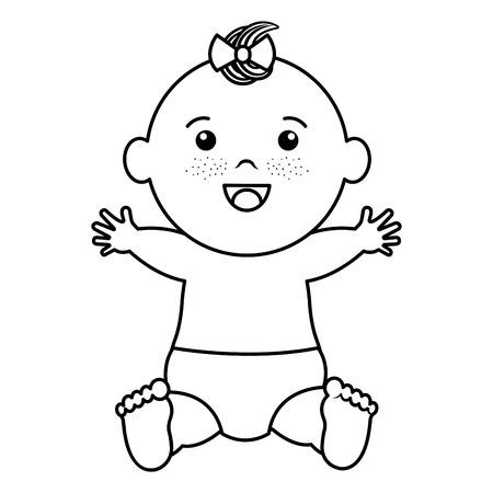 赤ちゃん服ハッピー アイコン ベクトル イラスト デザインを描く