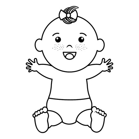 아기 옷 행복 아이콘 벡터 일러스트 디자인 무승부