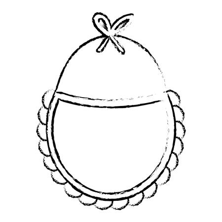 아름다운 액세서리 babys 아이콘 벡터 일러스트 디자인 무승부