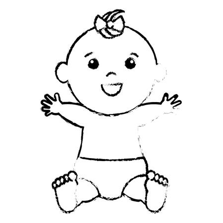 baby: Baby clothes happy icon vector illustration design draw Illustration