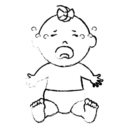 Baby clothes crying icon vector illustration design draw