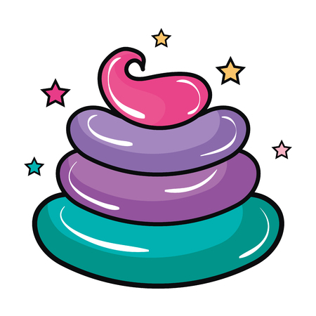 Zoete crème kinderen icoon vector illustratie ontwerp grafisch