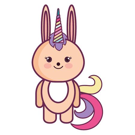 Gefüllte Tier Kaninchen Symbol Vektor-Illustration Design Grafik Standard-Bild - 80862012