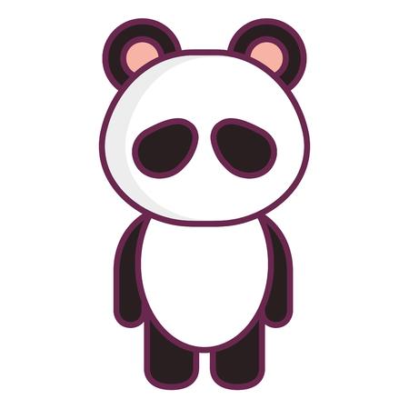 funny pictures: Stuffed animal panda icon vector illustration design graphic Illustration