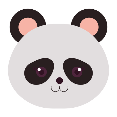 Stuffed animal panda icon vector illustration design graphic Stock fotó - 80862077