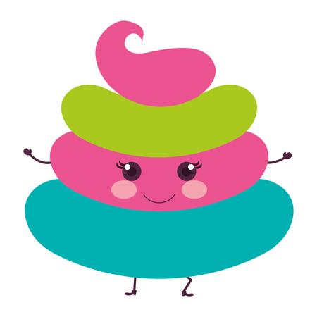 Zoet van de het pictogram vectorillustratie van roomkinderen grafisch