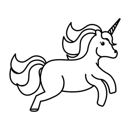 baby: Unicorn animal horn icon vector illustration design draw