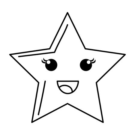 幸せな空の星のアイコン ベクトル イラスト デザインを描く
