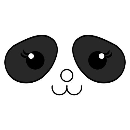 Stuffed animal panda icon vector illustration design draw