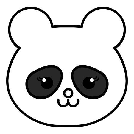 Stuffed animal panda icon vector illustration design draw Stock fotó - 80862150