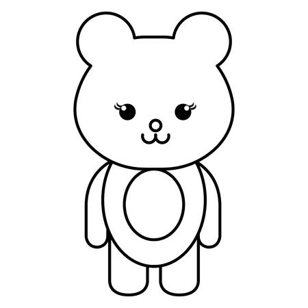 baby: Stuffed animal monkey icon vector illsutration design draw