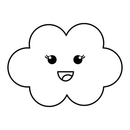 baby: Cloud sky baby icon vector illustration design draw