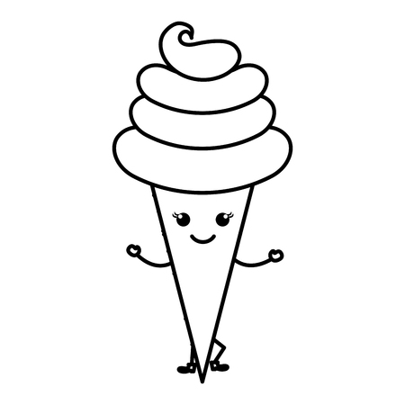 Sweet cream children icon vector illustration design draw