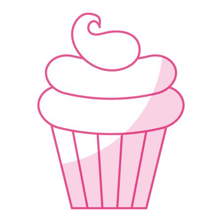 Zoete crème kinderen icoon vector illustratie ontwerp schaduw