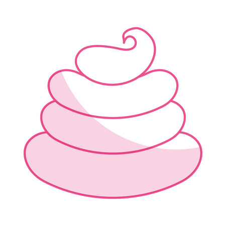 Sweet cream children icon vector illustration design shadow Çizim