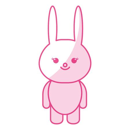 Gefüllte Tier Kaninchen Symbol Vektor-Illustration Design-Schatten Standard-Bild - 80862167