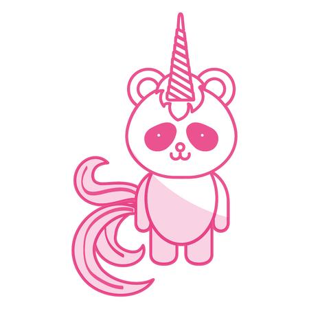 Stuffed animal panda icon vector illustration design shadow