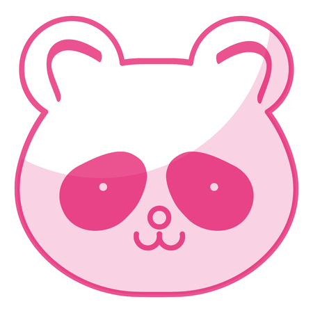 baby: Stuffed animal panda icon vector illustration design shadow