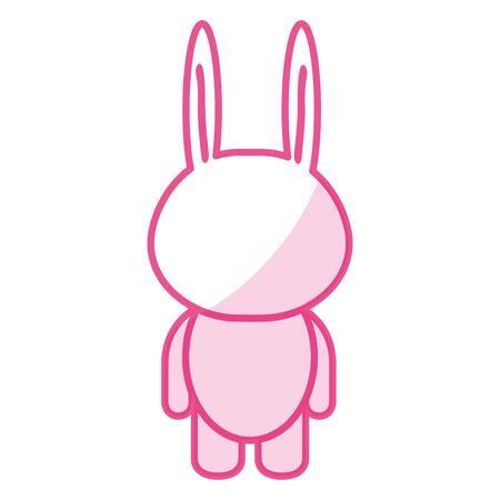 Gefüllte Tier Kaninchen Symbol Vektor-Illustration Design-Schatten Standard-Bild - 80862180