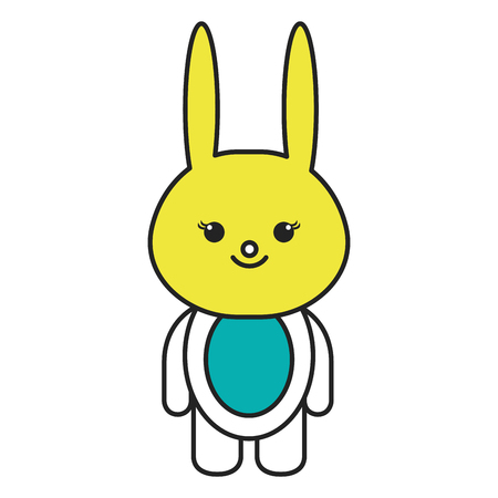 Stuffed animal rabbit icon vector illustration design graphic