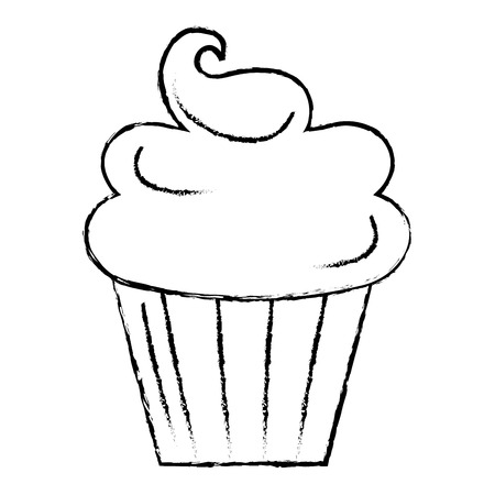Süße Sahne Kinder Symbol Vektor-Illustration Design zeichnen Standard-Bild - 80862265