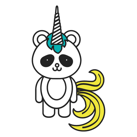 Stuffed animal panda icon vector illustration design graphic Stock fotó - 80871350