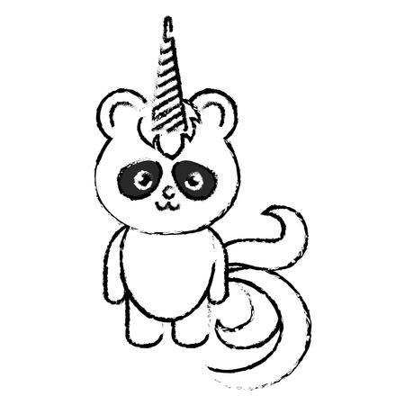 icon series: Stuffed animal panda icon vector illustration design draw