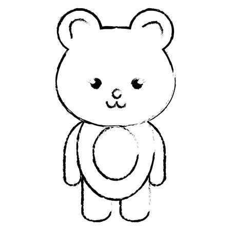 Stuffed animal monkey icon vector illsutration design draw