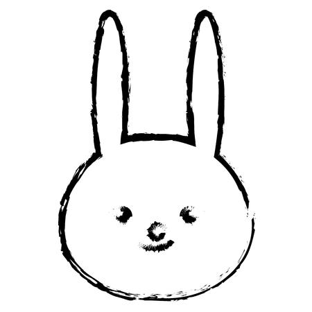 Stuffed animal rabbit icon vector illustration design draw Ilustração