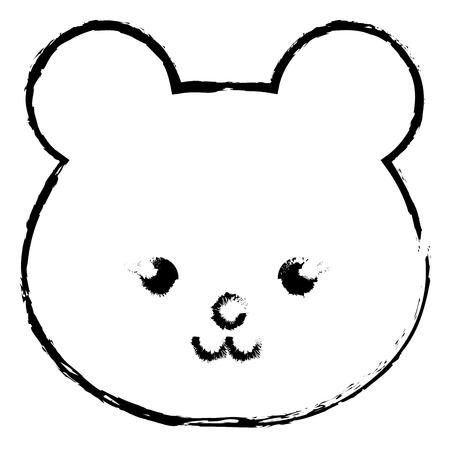 박제 동물 원숭이 아이콘 벡터 illsutration 디자인 무승부