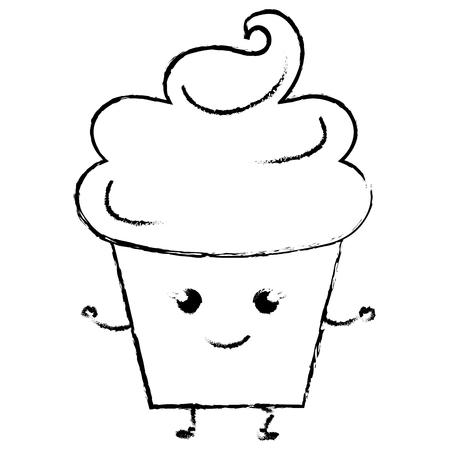Süße Sahne Kinder Symbol Vektor-Illustration Design zeichnen Standard-Bild - 80862311