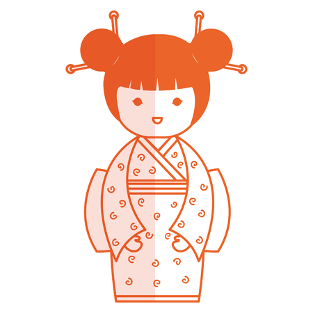 cute Little japanese doll vector illustration design Reklamní fotografie - 80860033