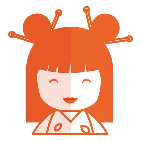 cute Little japanese doll vector illustration design Reklamní fotografie - 80862409