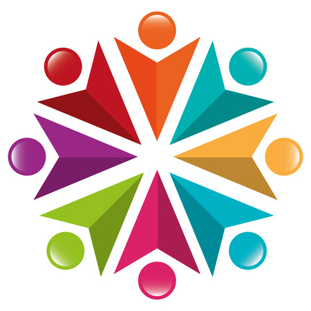 teamwork symbol silhouette icon vector illustration design