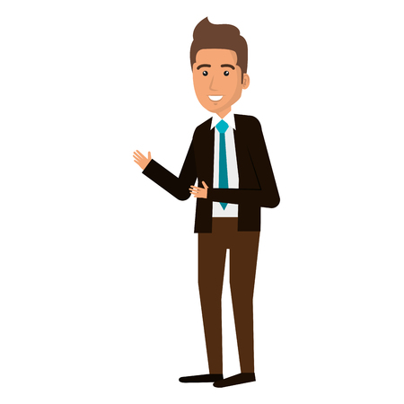 elegant businessman avatar character vector illustration design