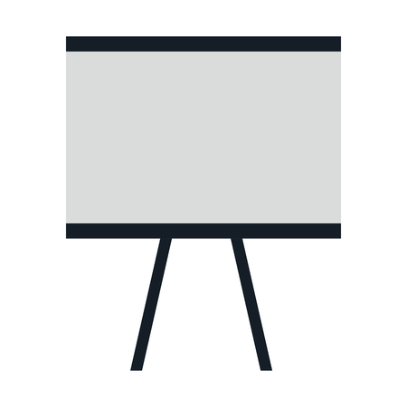 Flipchart board isolated icon vector illustration design