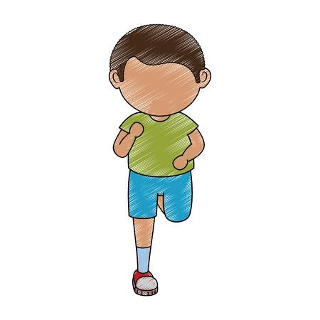 avatar boy icon over white background colorful design vector illustration