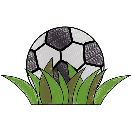 soccer ball icon over white background colorful design vector illustration