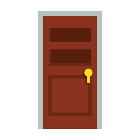 door icon over white background vector illustration Ilustrace