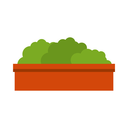 bush in a pot icon over white background vector illustration