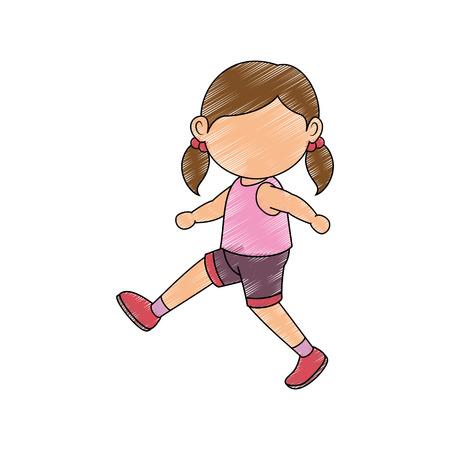 Avatar Icono de gimnasta chica sobre fondo blanco Ilustración de vector de diseño colorido Foto de archivo - 80860370