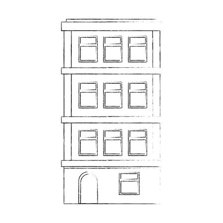 appartement gebouw pictogram over witte achtergrond vector illustratie Stock Illustratie