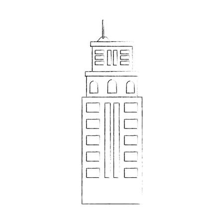 Stadtgebäude Symbol auf weißem Hintergrund Vektor-Illustration Standard-Bild - 80860996