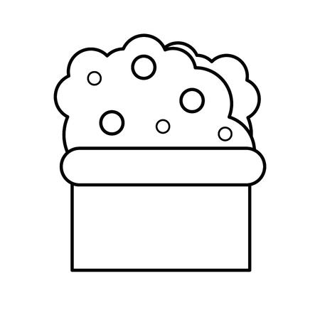 plant in a pot  icon over white background vector illustration Ilustração