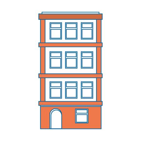 apartment building icon over white background colorful design vector illustration Illusztráció