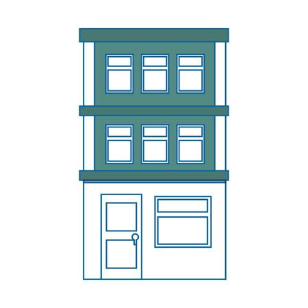 Appartementsgebouw pictogram over witte achtergrond kleurrijk ontwerp vectorillustratie Stockfoto - 80861015