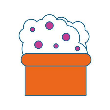 plant in a pot  icon over white background colorful design vector illustration Ilustração